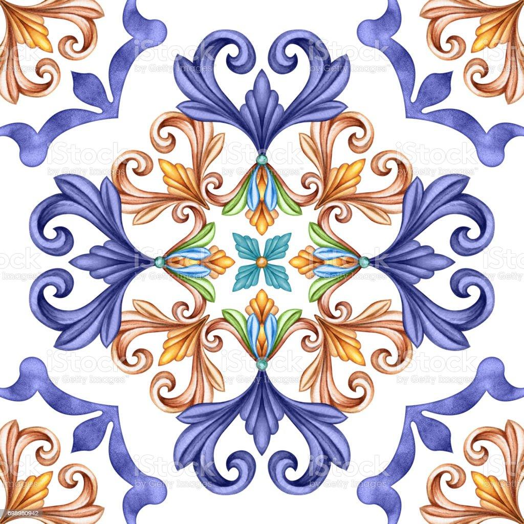 Abstrakten Klassischen Musterdesign Antike Mosaik Ornament