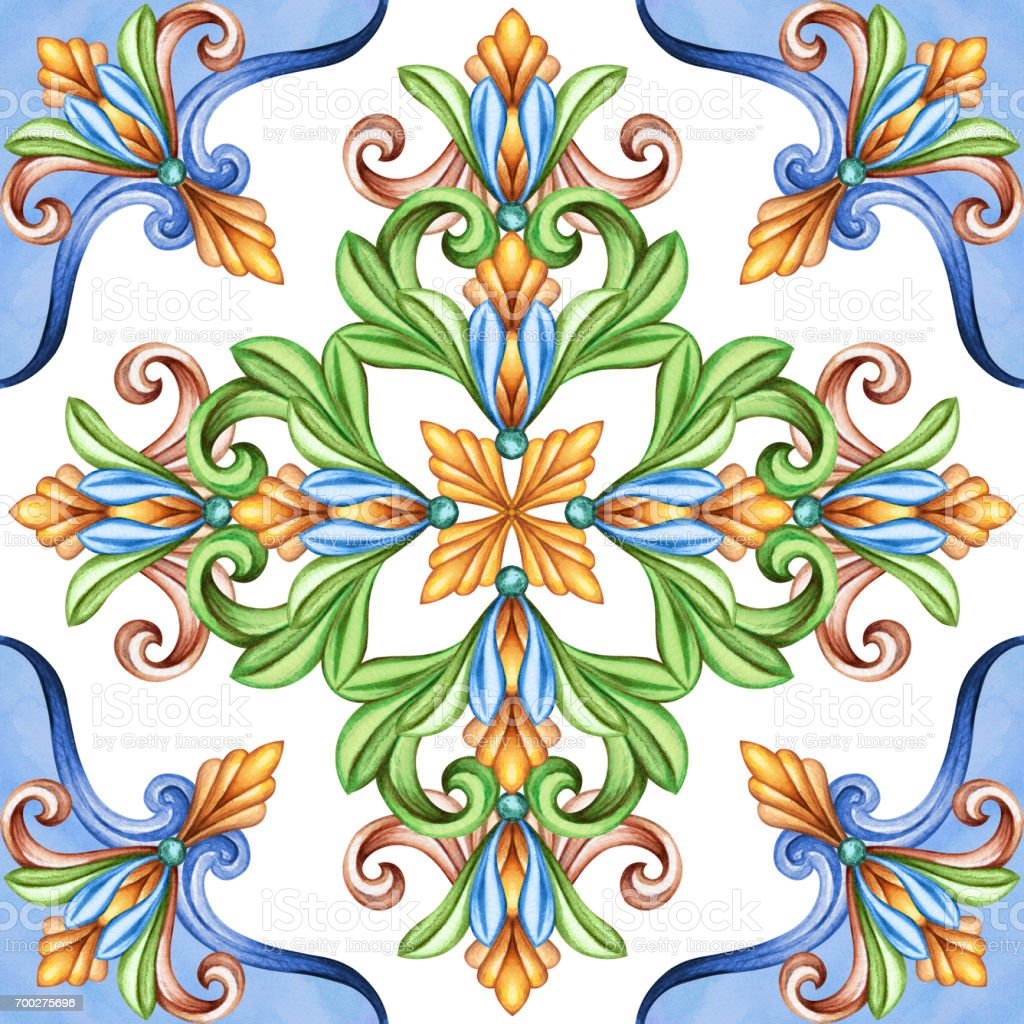 Klassisches Design Antike Mosaik Ornament Mittelalterliche Akanthus