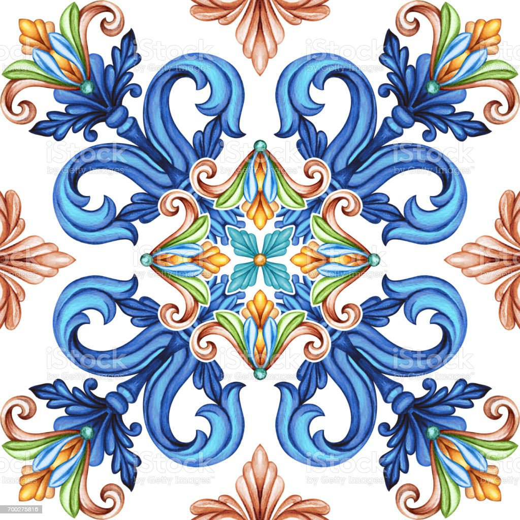 Abstract Seamless Pattern Classic Design Antique Mosaic Ornament ...