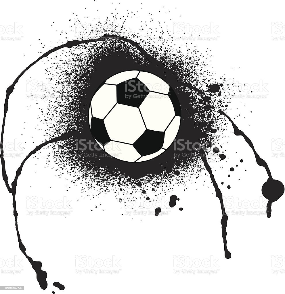 abstract soccer ball stock vector art more images of backgrounds rh istockphoto com soccer ball art projects soccer ball art project