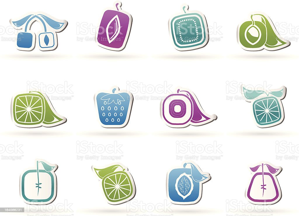 Abstract square fruit icons royalty-free abstract square fruit icons stock vector art & more images of abstract