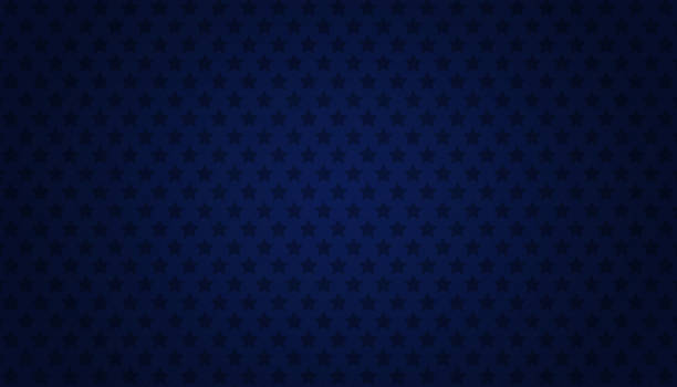 Abstract starry blue background American style backdrop with blue starry background. dark blue stock illustrations