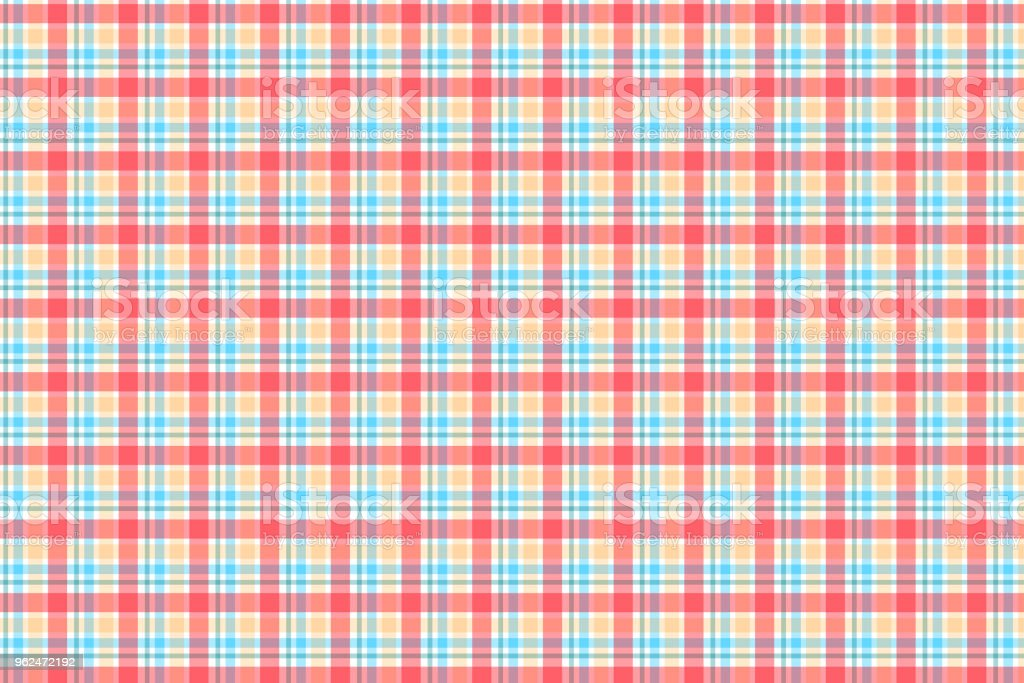 Abstract striped and plaid pattern with red pastel colour vector art illustration