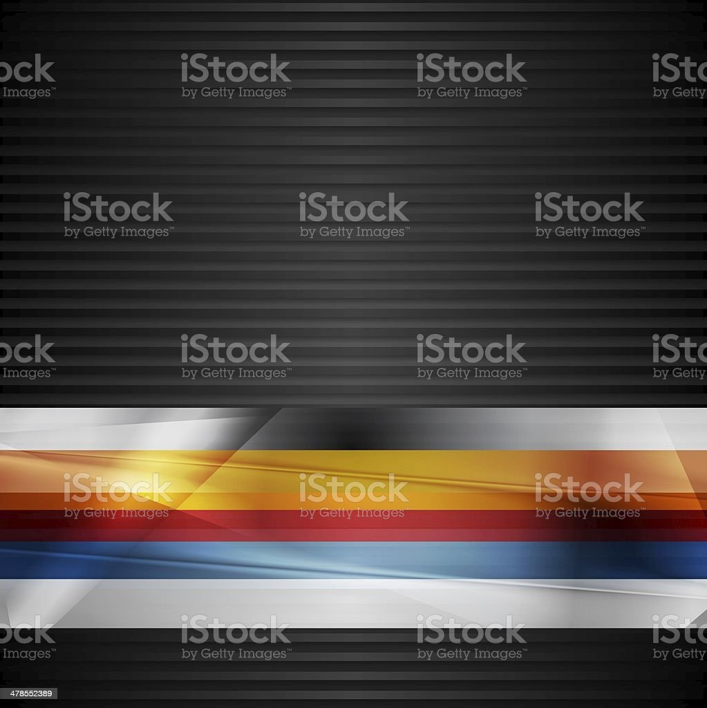 Abstract stripes design vector art illustration