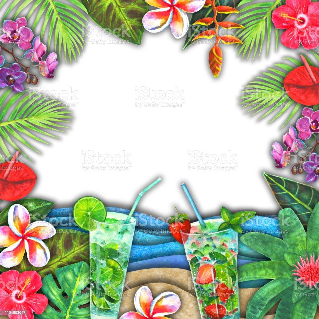Download Vector - Watercolor beach background - Vectorpicker