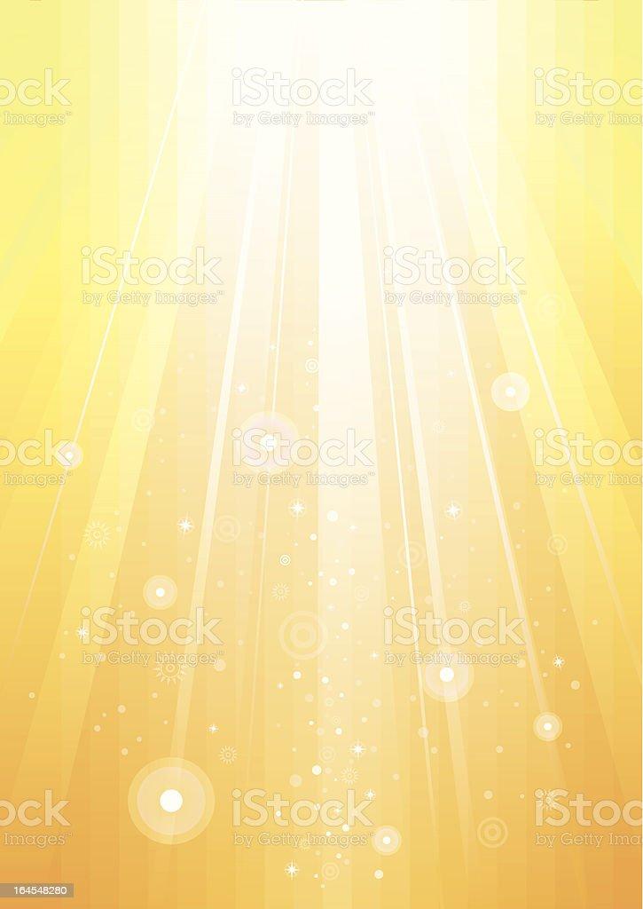 Abstract sunlight gold background vector art illustration
