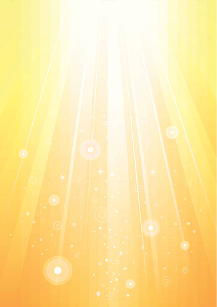 Abstract sunlight gold background vector art illustration