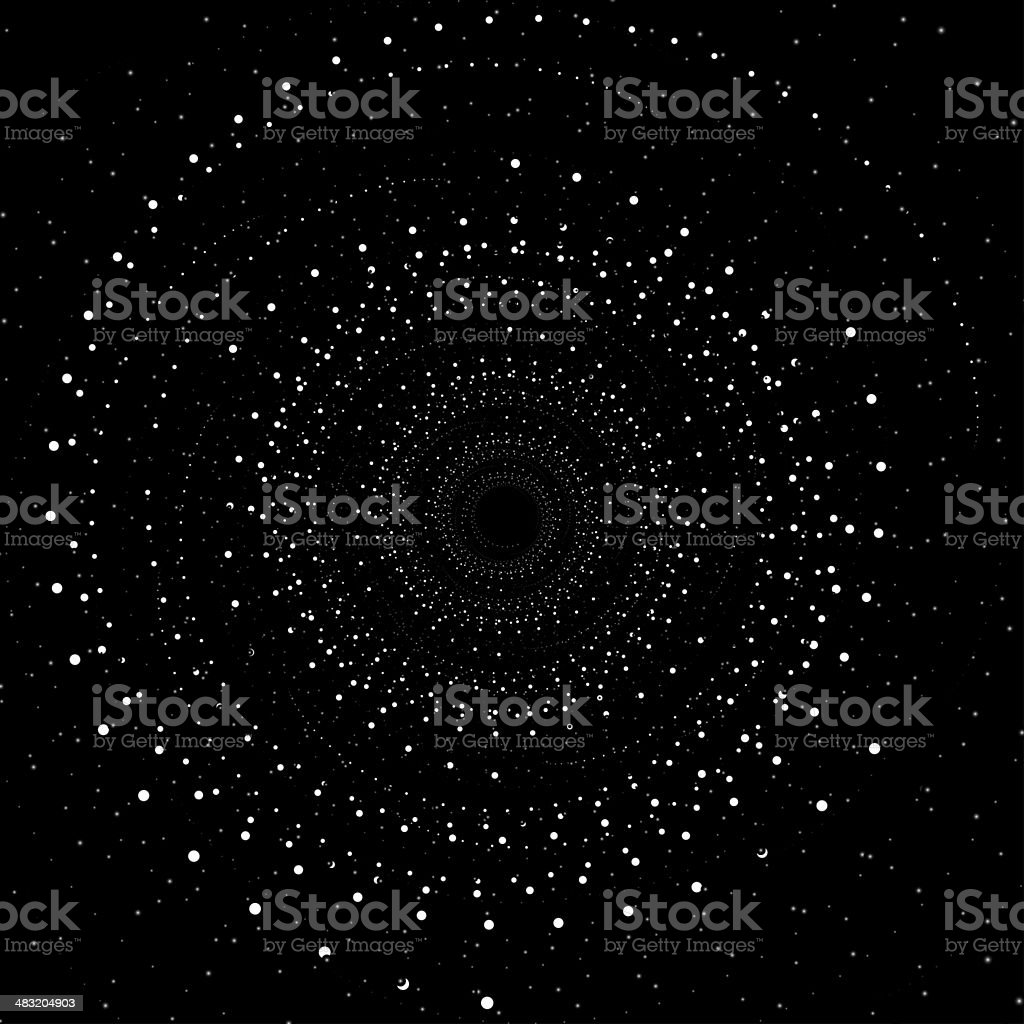Abstract swirl background, space concept design vector art illustration