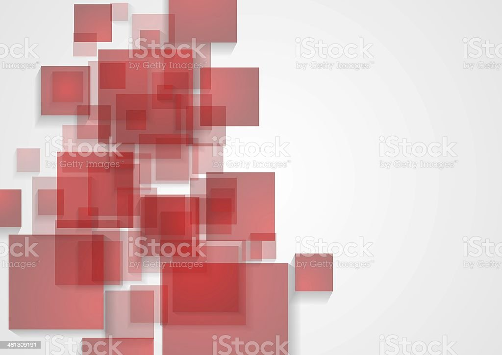 Abstract tech squares design vector art illustration