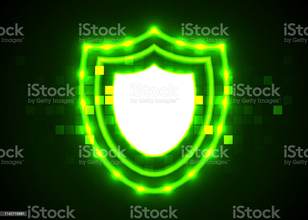 Abstract technology background, Internet technology cyber security...