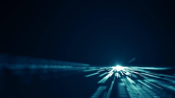 Abstrakte Technologie Big Data Hintergrundkonzept. – Vektorgrafik