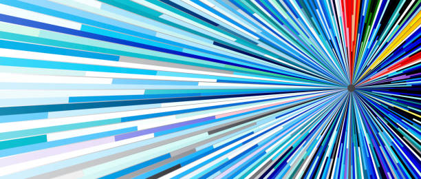 抽象技術概念向量藝術插圖