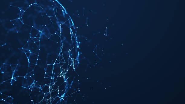 Abstraktes Technologienetzwerk. – Vektorgrafik