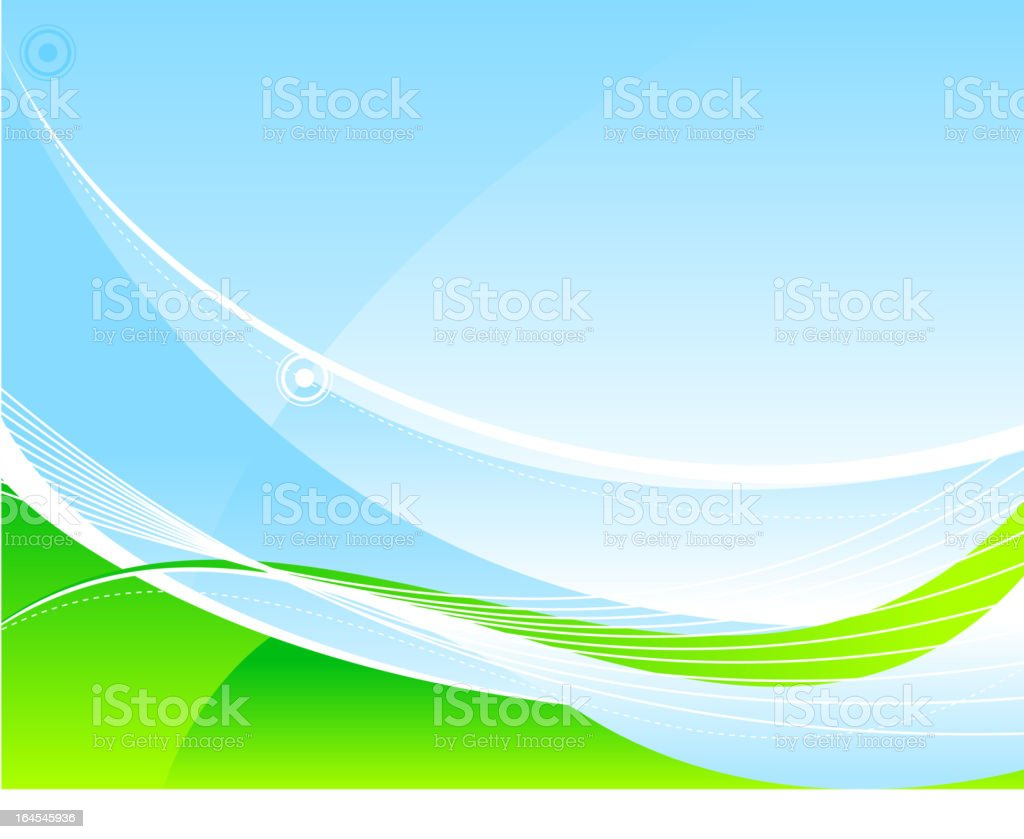 Abstract tranquil scene royalty-free stock vector art