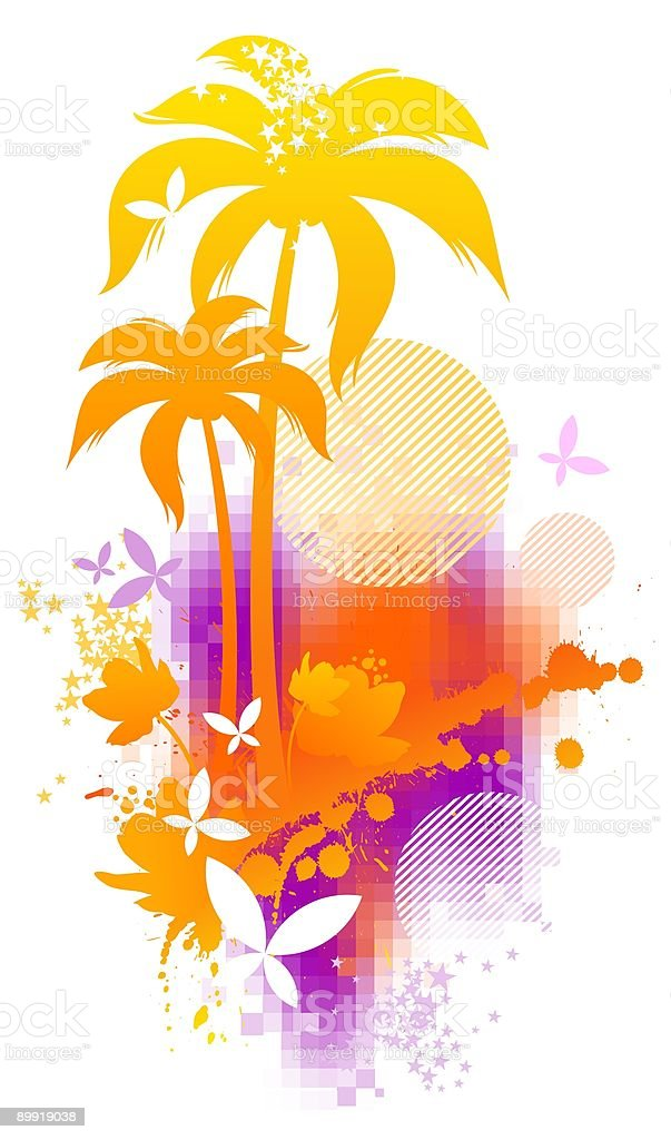 Abstract tropical illustration royalty-free abstract tropical illustration stock vector art & more images of abstract