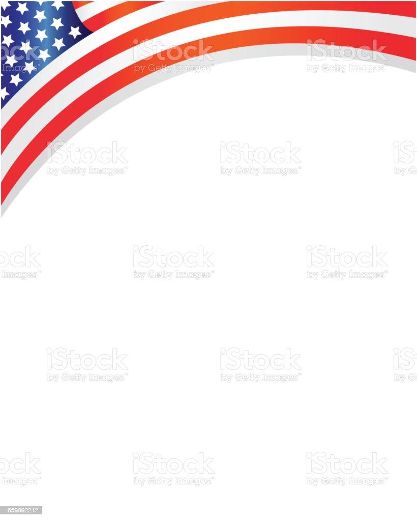 Abstrakte Usa Flagge Rahmen Stock Vektor Art und mehr Bilder von 4 ...