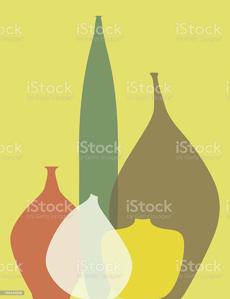 Abstract vases royalty-free stock vector art