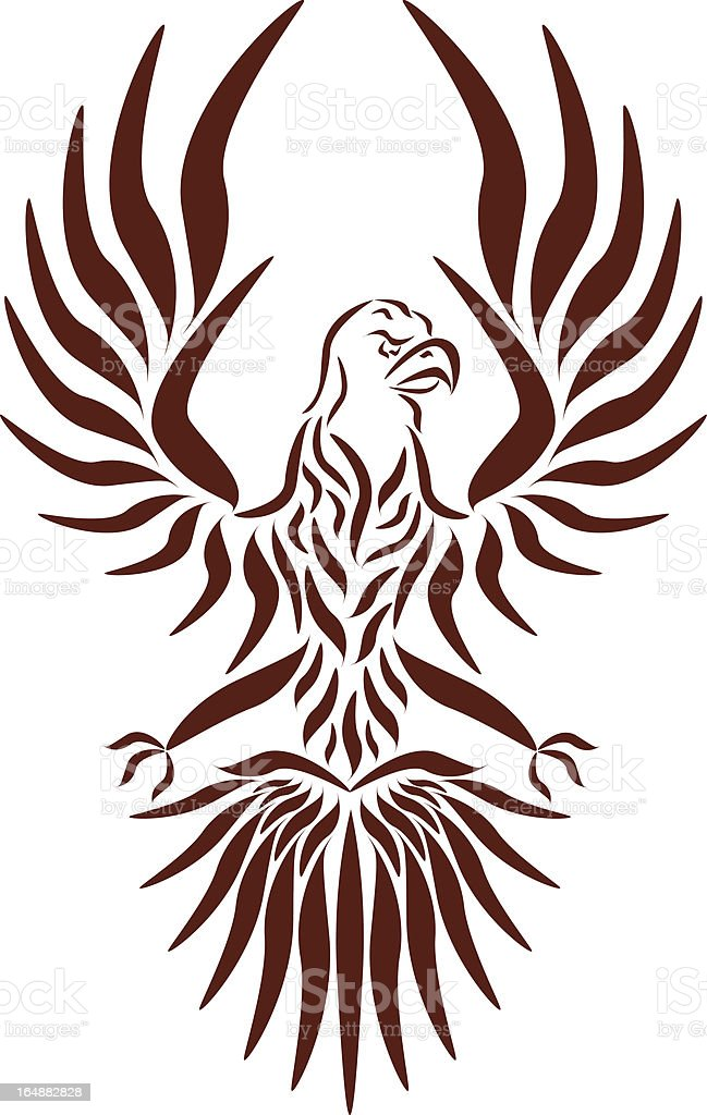 Abstract vector eagle vector art illustration