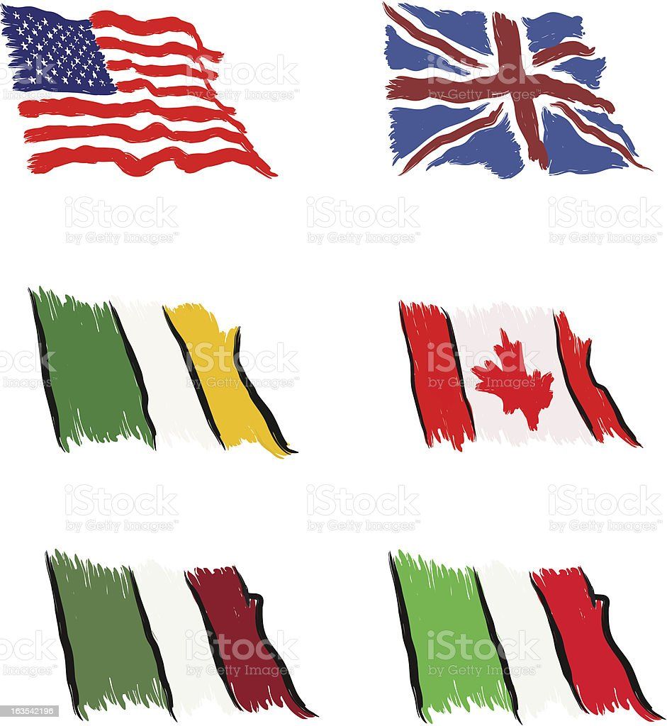 Abstract Vector Flags royalty-free abstract vector flags stock vector art & more images of abstract