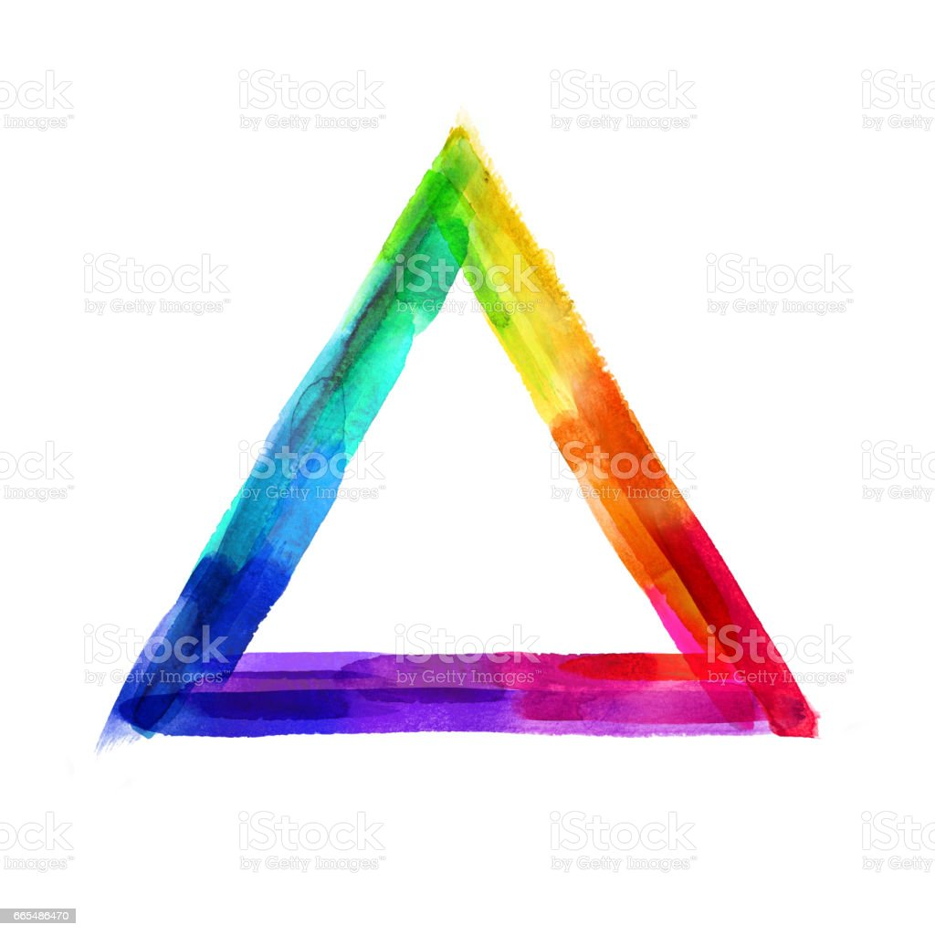 Abstract Vivid Watercolor Triangle Artistic Geometrical Shape Grunge ...