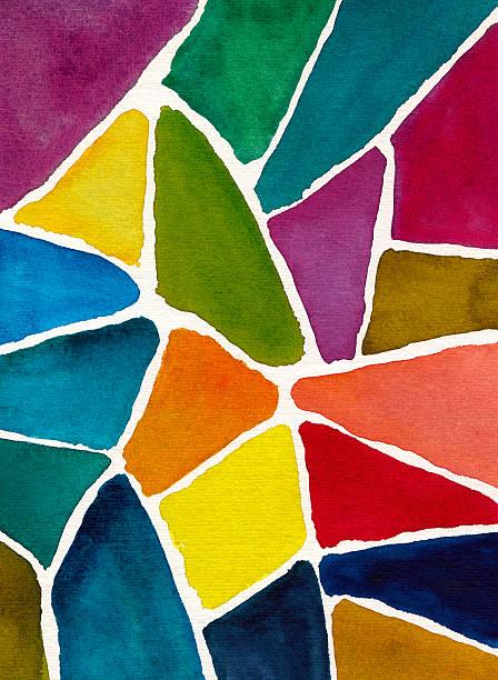 抽象的な水彩バックグラウンドデザインのモザイク - タイルパターン点のイラスト素材/クリップアート素材/マンガ素材/アイコン素材