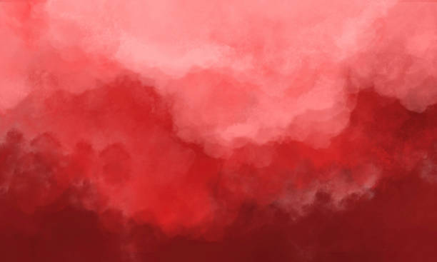Abstract Watercolor Background - Orange Red Abstract Watercolor Background - Orange and Red Soft Grunge watercolor background stock illustrations