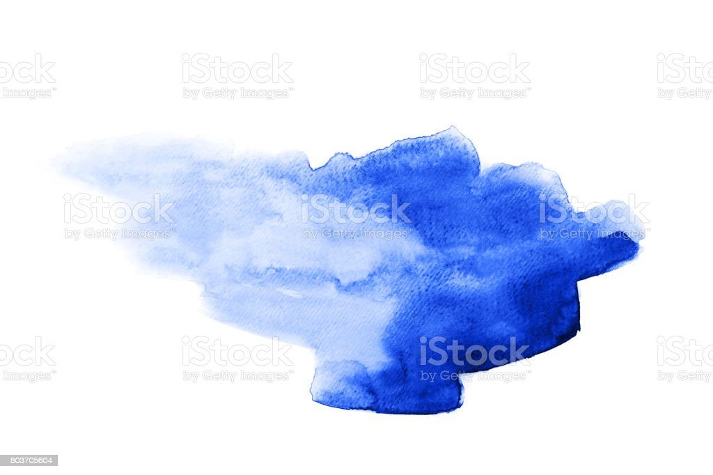 Abstract watercolor blue stain vector art illustration