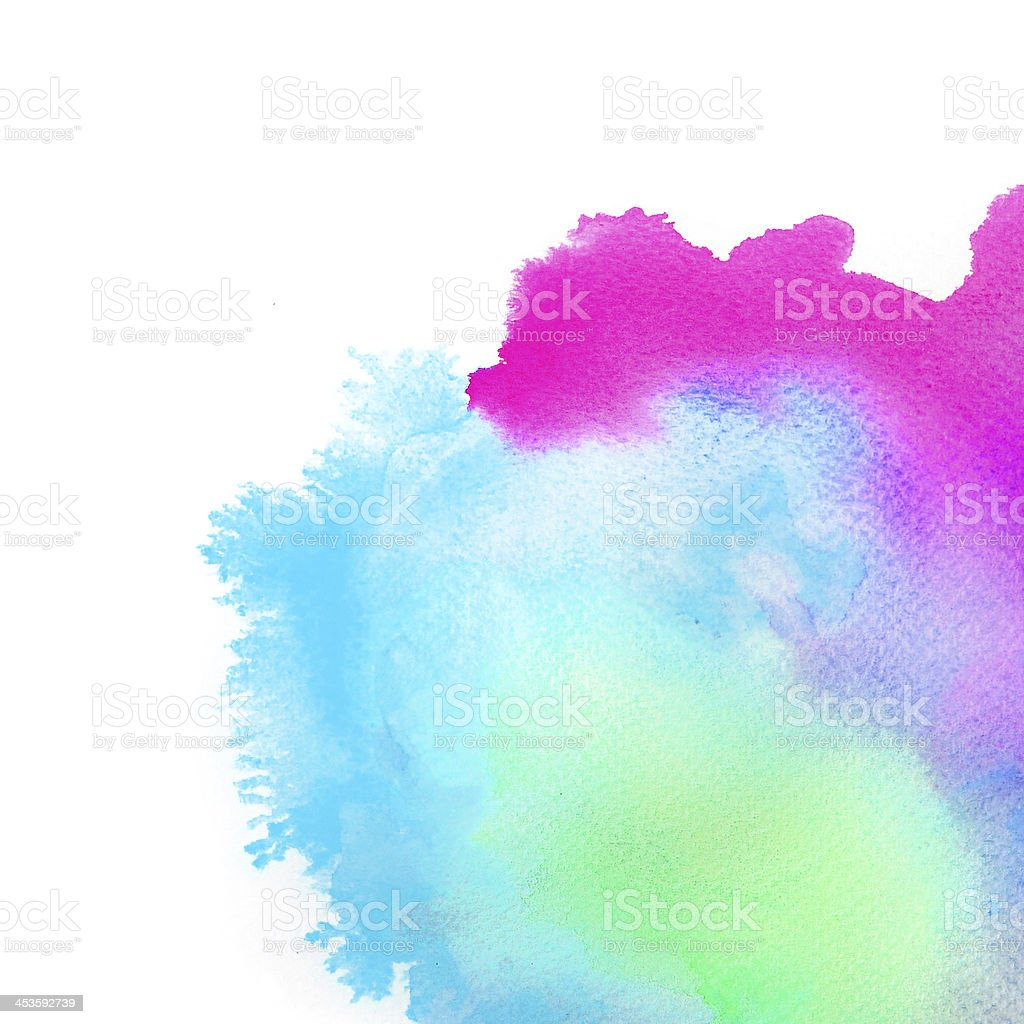 Abstract  watercolor hand painted background royalty-free stock vector art