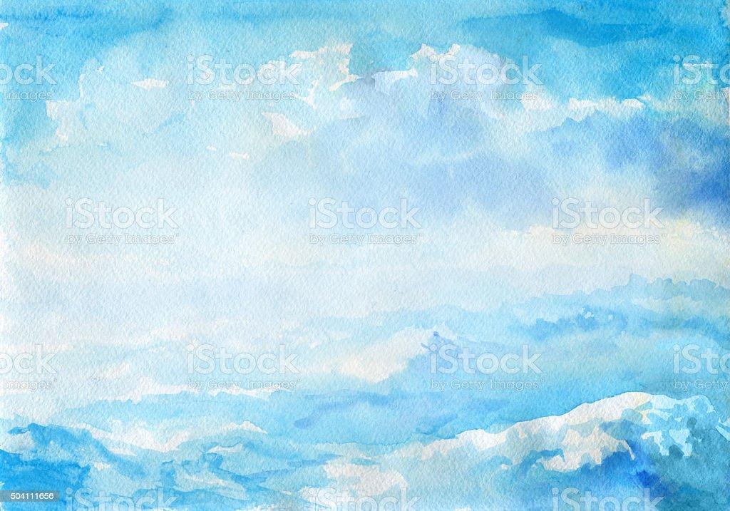 Abstrakte Aquarell Landschaft – Vektorgrafik