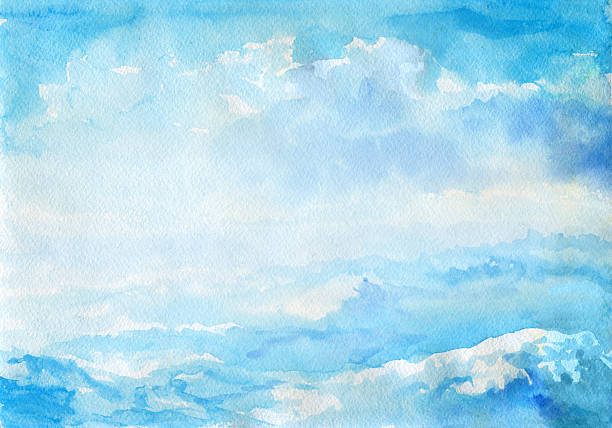 抽象的な水彩の風景 - 海点のイラスト素材/クリップアート素材/マンガ素材/アイコン素材