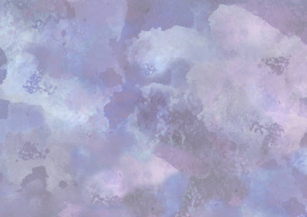 Abstract watercolor sky cloudscape background vector art illustration