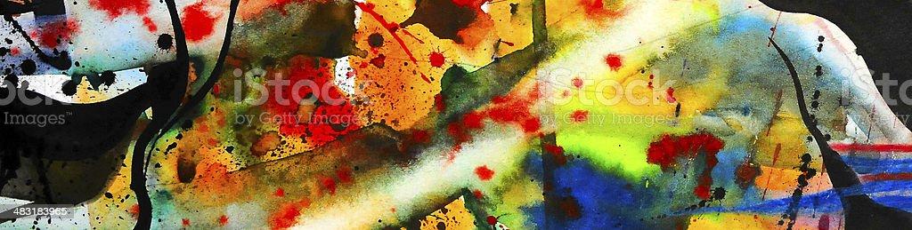 Abstract watercolor texture, avant-garde painting technique vector art illustration