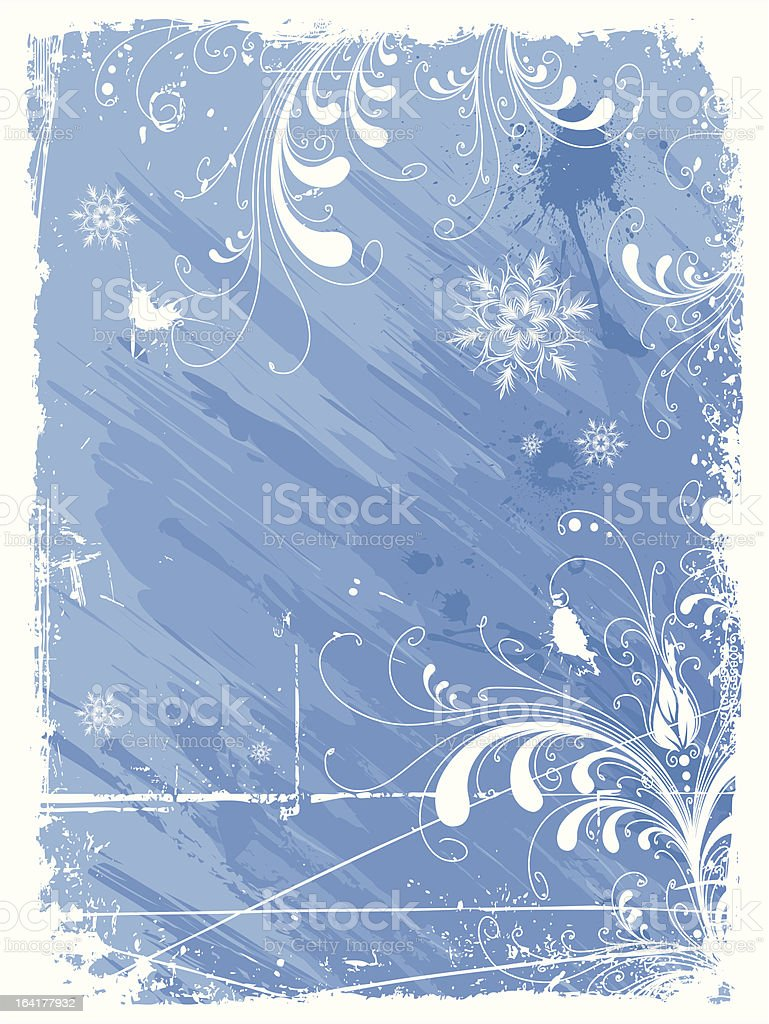 Abstract winter background royalty-free stock vector art