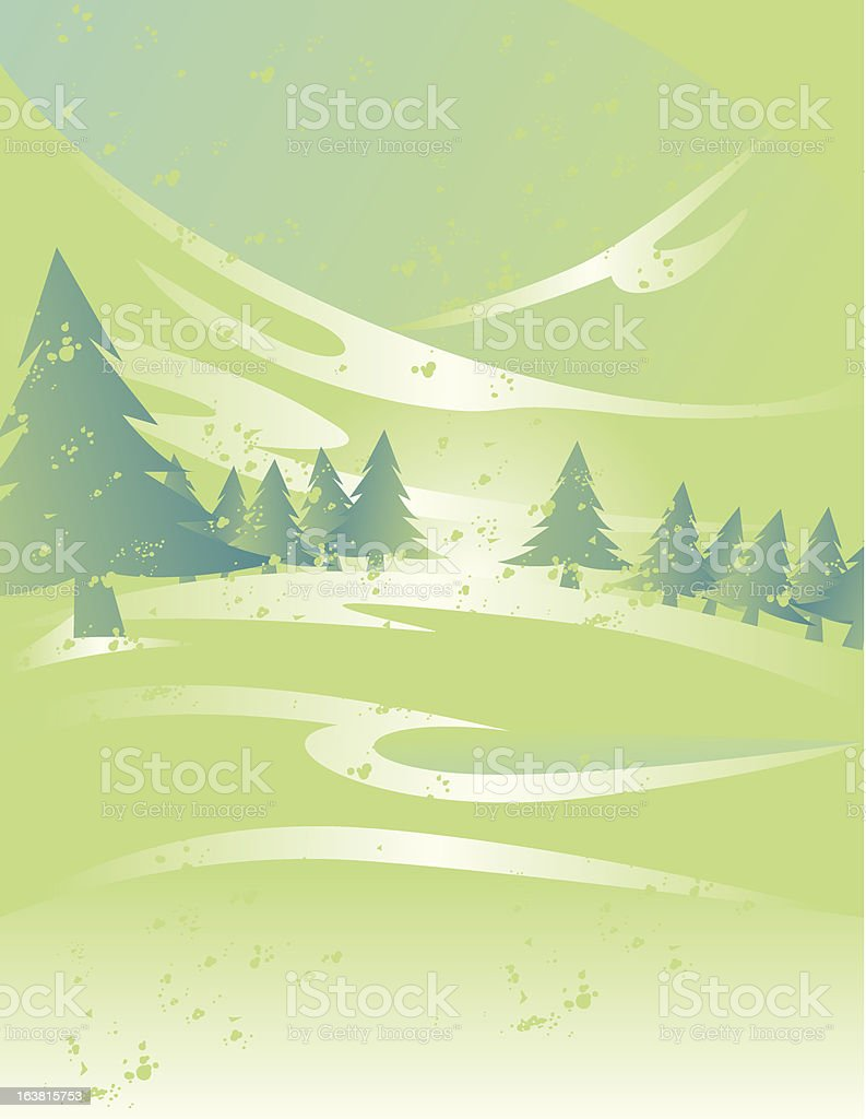 Abstract Winter Scene royalty-free stock vector art