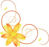 Abstract yellow flower