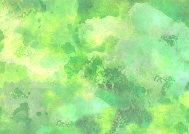 Abstract yellow green watercolor background vector art illustration