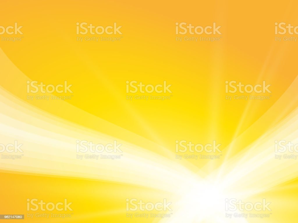 abstract yellow sun waves background vector art illustration