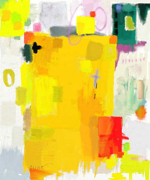 Abstraction Abstract composition which consists of a plurality of colored layers modern art stock illustrations