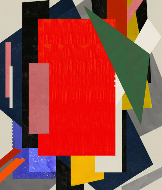 Abstraction An abstraction that consists of a number of color spots modern art stock illustrations