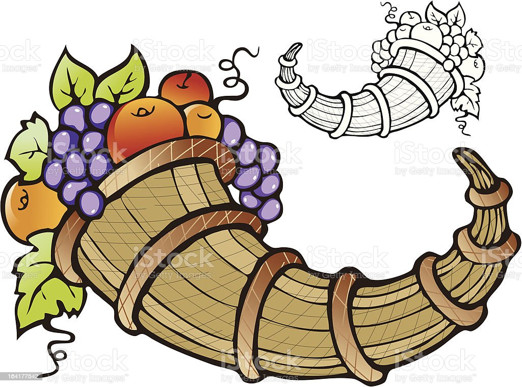 Abundance of fruit crop vector art illustration