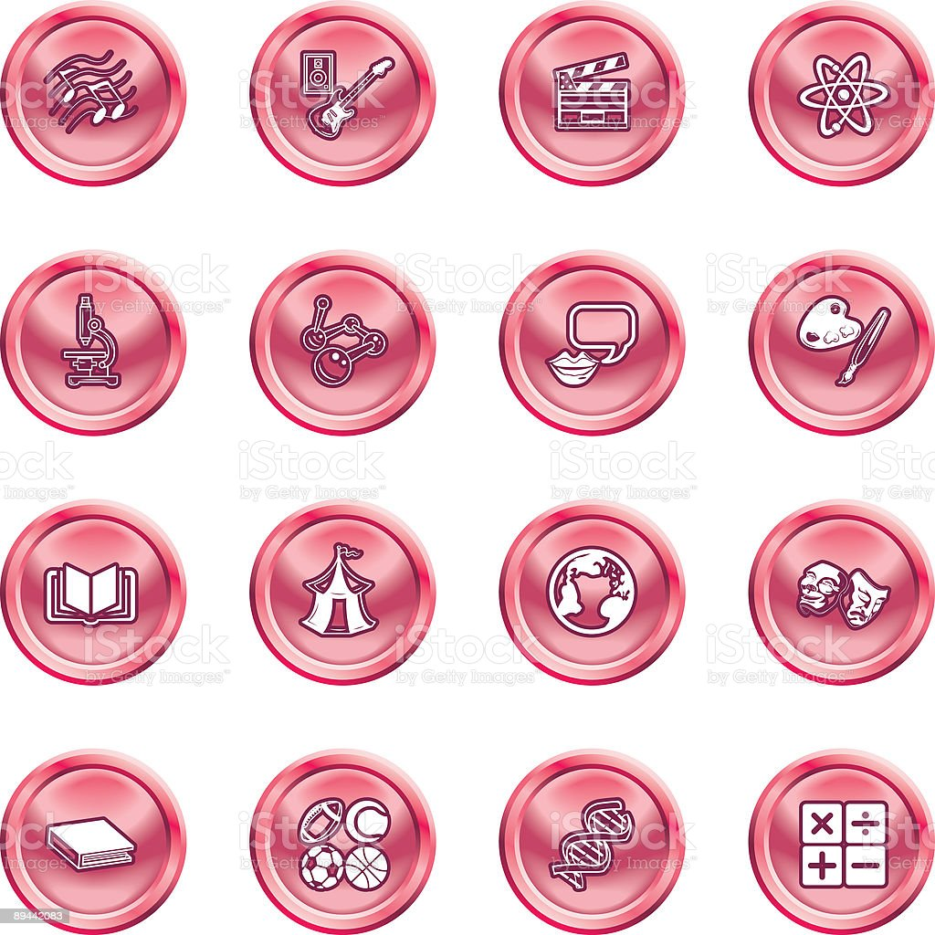 Academic study subject icons royalty-free academic study subject icons stock vector art & more images of american football - sport