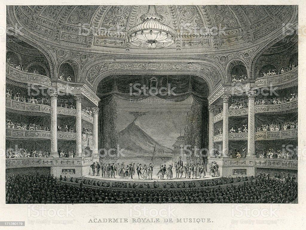 Academie Royale Du Musique, Paris vector art illustration
