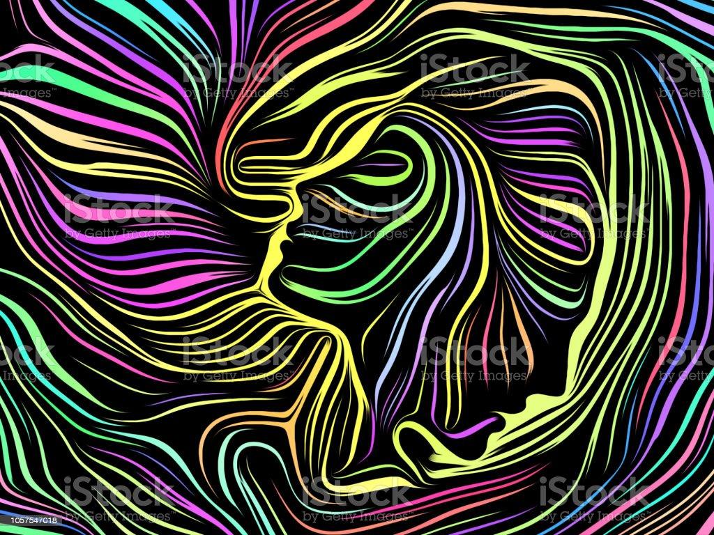Acceleration of Inner Lines vector art illustration
