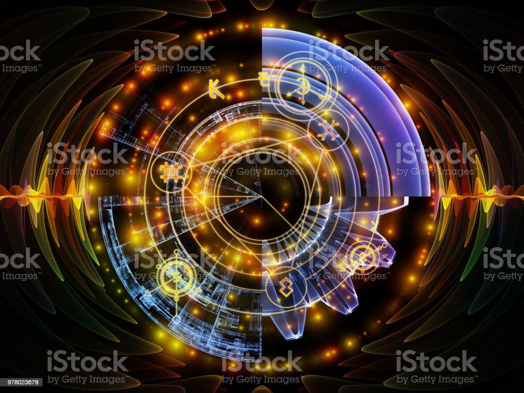 Acceleration of Mystic Circle vector art illustration