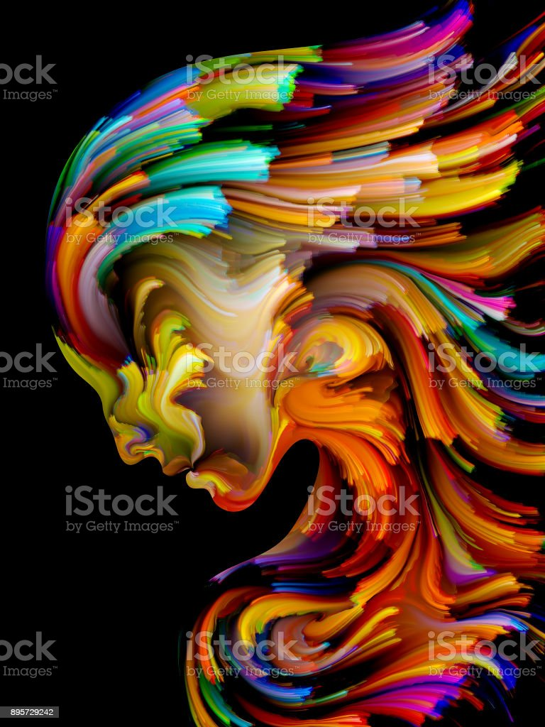 Acceleration of Paint vector art illustration