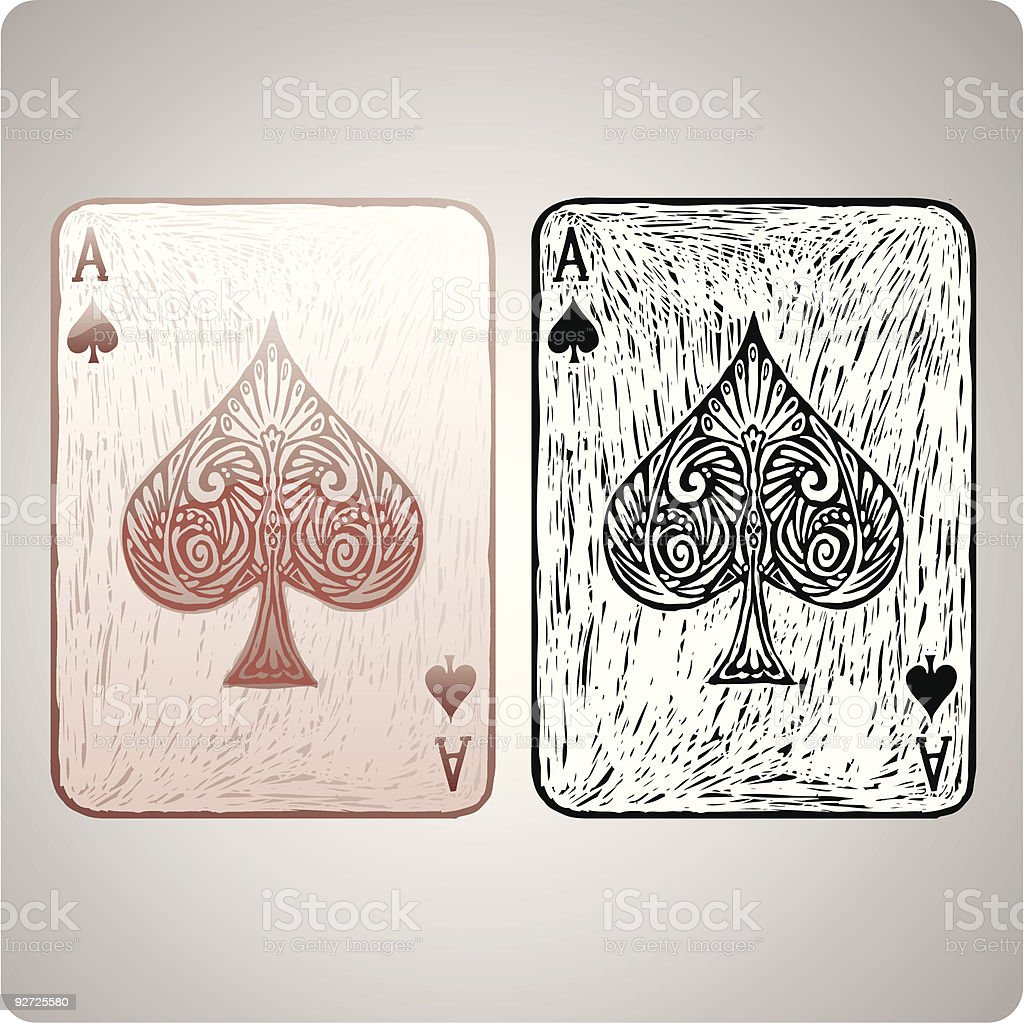 Ace of spades vector art illustration
