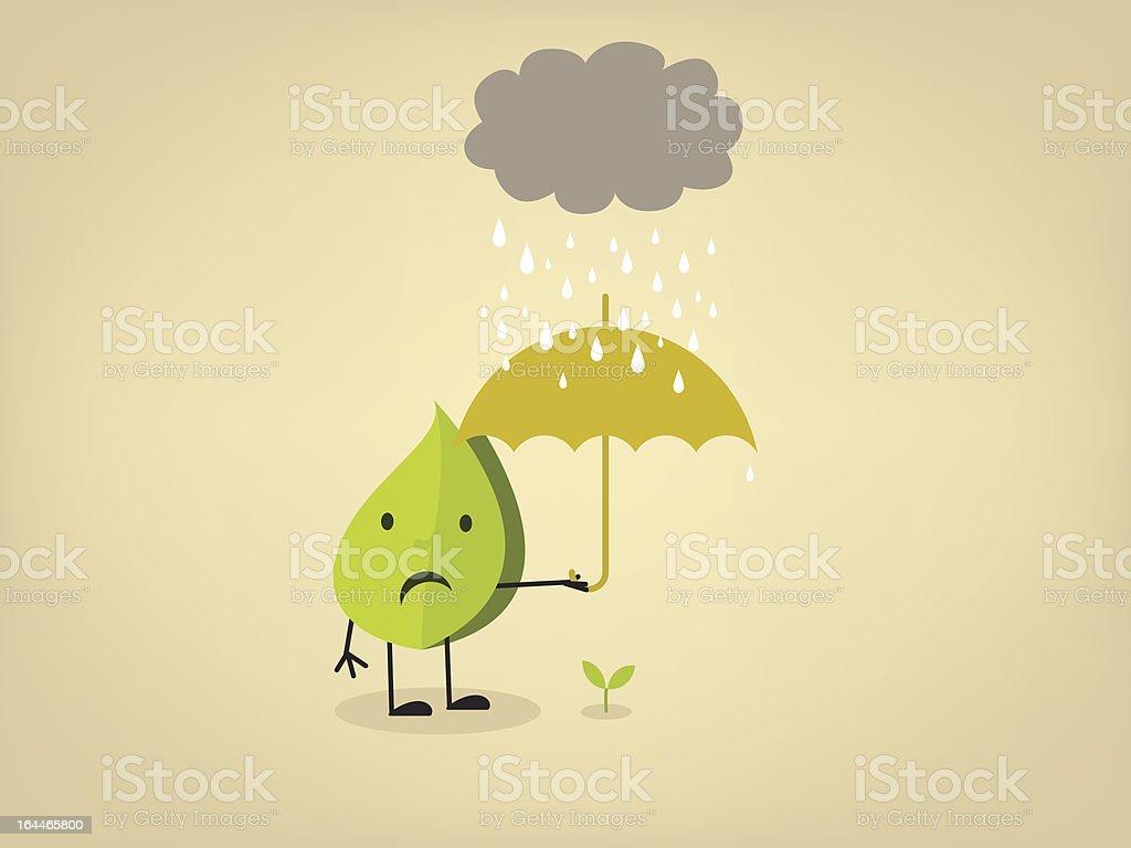Acid rain vector art illustration