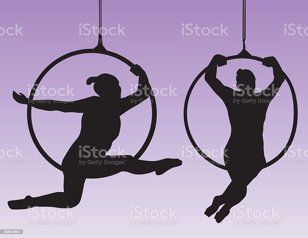 Acrobat Contortionists ( Vector ) vector art illustration