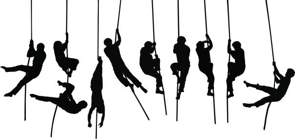 Acrobat silhouettes