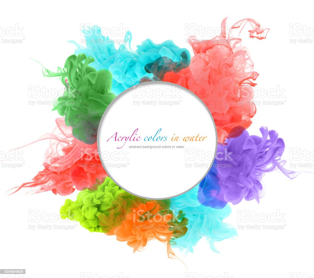 Acrylic colors in water. Abstract background. vector art illustration